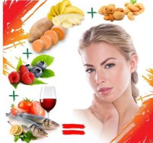 comidas y bebidas buenas para la piel